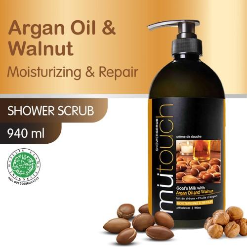 Foto Produk MuTouch Goat's Milk Shower Scrub Argan Oil And Walnut 940ml dari Era Official Store