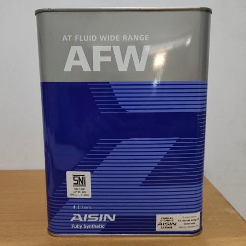 Foto Produk Oli Aisin AFW / ATF (Matic transmisi) isi 4 ltr ASLI dari Indo Utama Otoparts