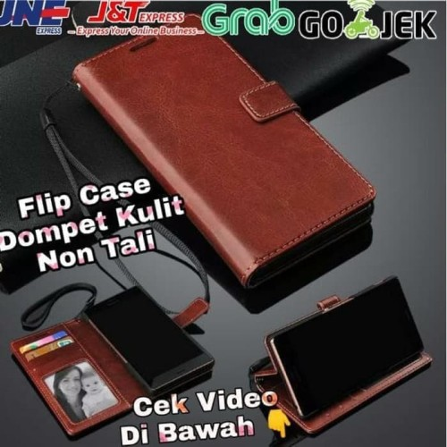Foto Produk Flip Wallet Kulit OPPO A92 2020 New - Hitam dari BintangAccGrosir