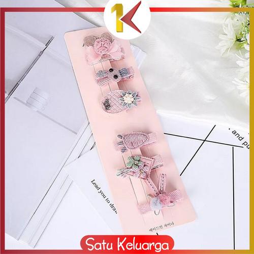 Foto Produk SK-C14 6PCS Jepit Rambut Model Pita Kartun Aksesoris Rambut untuk Bayi - KODE 03 dari Satukeluarga