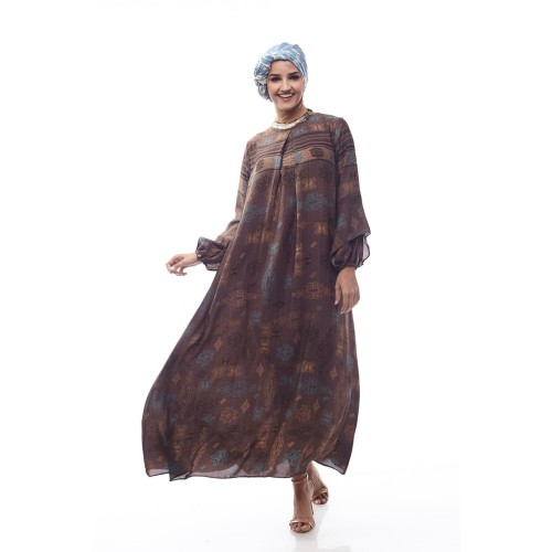 Foto Produk Mandalika by Aisaa - Gamis Lengan Lonceng - Mocca - S dari Aisaa Official