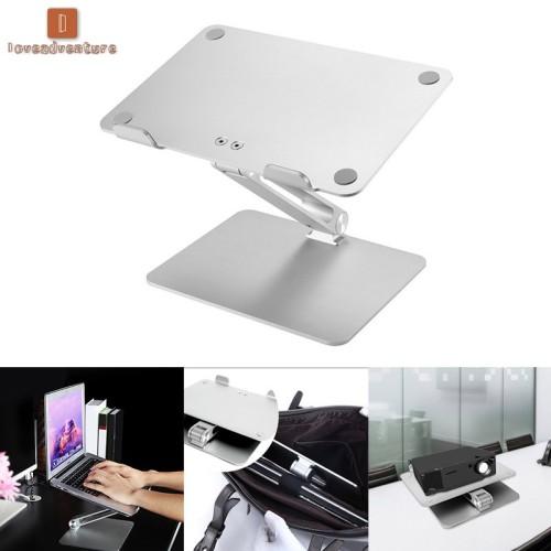 Foto Produk Universal Aluminum Alloy Laptop Holder Stand Foldable Adjustable dari Fixbeli