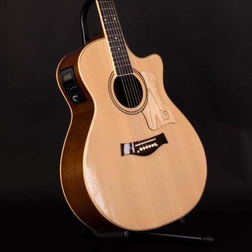 Foto Produk Gitar Akustik Elektrik EQ Tuner Mandalika DTS-01 Natural FULLSET dari sarabeautycare and music