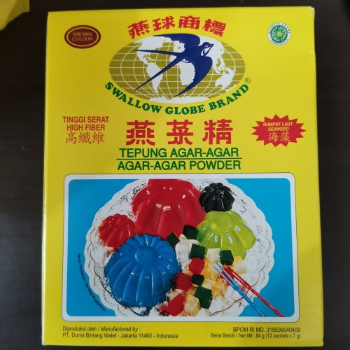 Foto Produk Agar agar Wallet Swallow Globe Brand - Coklat dari Duren Jatohan