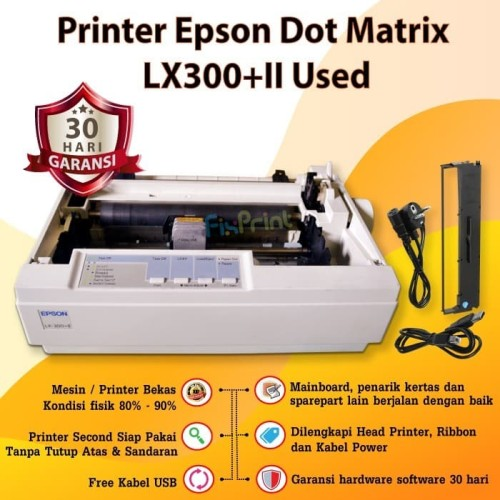 Foto Produk Printer Bekas Epson LX300+II Dot Matrix dari FixPrint Store