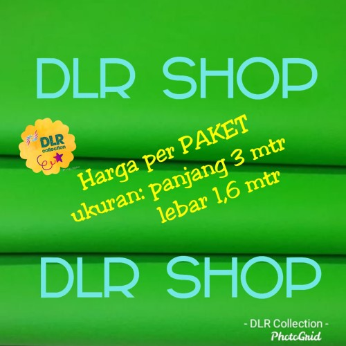 Foto Produk green screen 3 x 1.6 mtr bahan spunbond dari DLR Shop