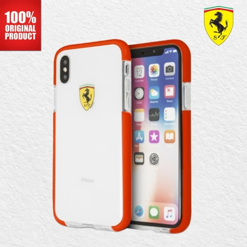 Foto Produk Ferrari Glossy Transparent - iPhone X - Red Side dari PlayWorks Official Store