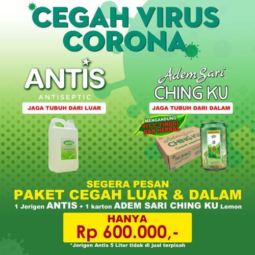 Foto Produk antis 5 liter bonus 1 karton adem sari kaleng dari Mugi Mugi Laris