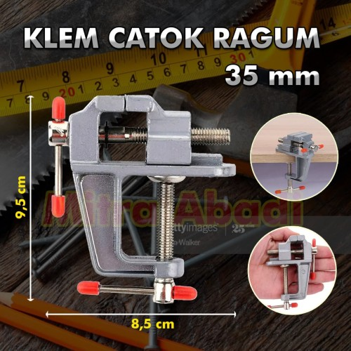 Foto Produk Klem Catok Ragum / Catok Meja / Ragum Clamp Vise Bench / Table Vice dari Toko Mitra Abadi