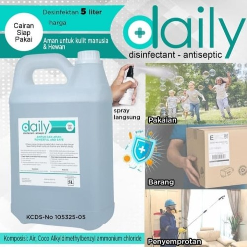 Foto Produk daily disinfektan 5L cairan disinfektan siap pakai dari Anita Anita