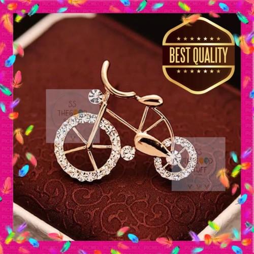 Foto Produk Pin Bross Motif Sepeda Berlian Premium Quality Best Seller! dari SS TheGoodStuff