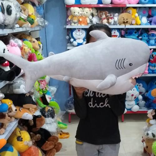 Foto Produk Boneka Ikan Hiu Soft Shark Jumbo - Abu-abu dari vanessashopyogyakarta