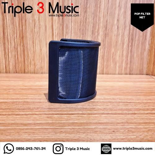 Foto Produk Pop Fiter U Pop filter nempel ke mic pop filter youtuber buat podcast dari triple3music