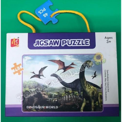 Foto Produk Jigsaw Puzzle - Dinosaurus 48 pcs | Mainan Puzzle bergambar Dinosaurus dari Toko suka main