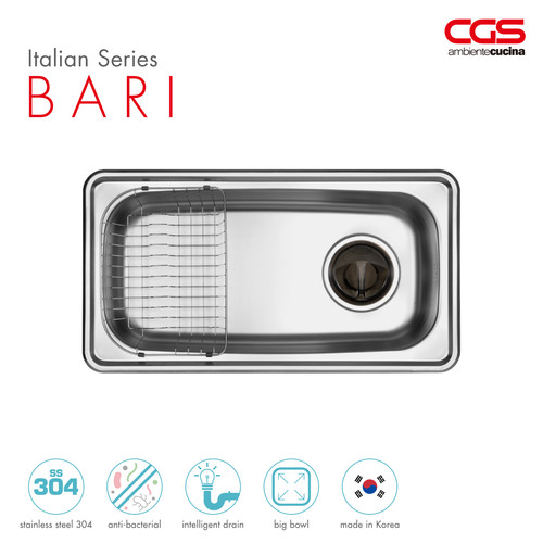 Foto Produk CGS Bari Stainless Kitchen Sink - Bak Cuci Piring dari CGS Indonesia