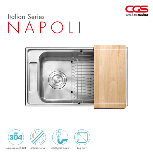 Foto Produk CGS NAPOLI Stainless Kitchen Sink - Bak Cuci Piring dari CGS Indonesia