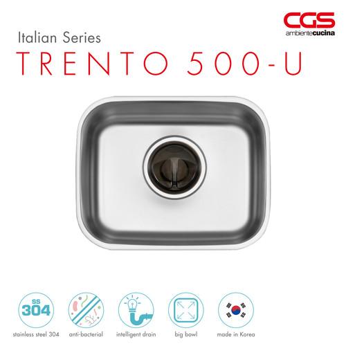 Foto Produk CGS TRENTO 500-U Stainless Kitchen Sink - Bak Cuci Piring dari CGS Indonesia