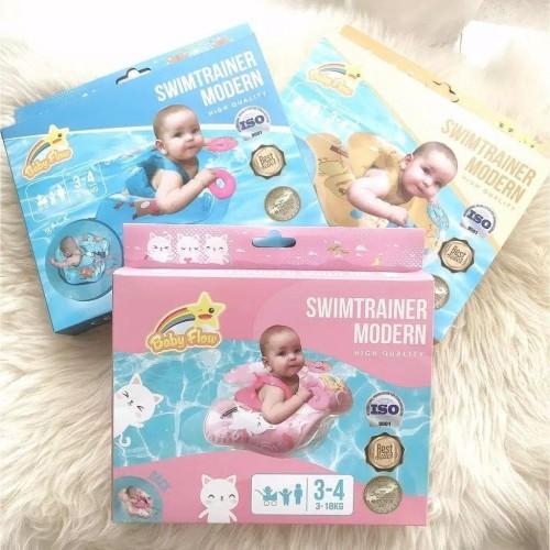 Foto Produk Baby Flow SwimTrainer Modern Swim Trainer Ban Renang Pelampung Bayi - Merah Muda dari Tokokecil