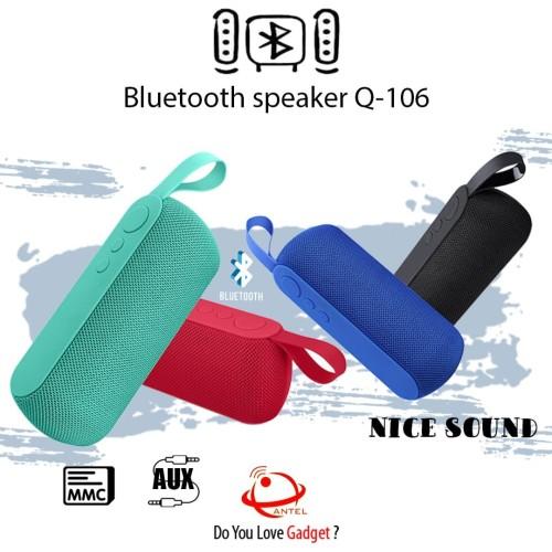 Foto Produk SPEAKER BLUETOOTH Q106 BLUETOOTH WIRELESS FLASH DISC MICRO SD dari P1Store