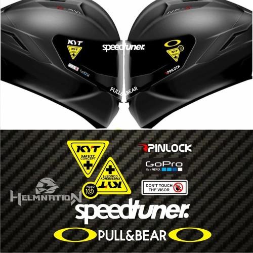 Foto Produk Value Set Paket Stiker Helm KYT Speedtuner dari @helm_nation