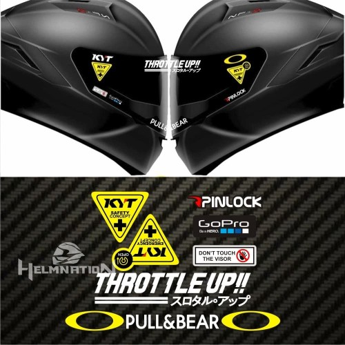 Foto Produk Value Set Paket Stiker Helm KYT Throttle Up dari @helm_nation