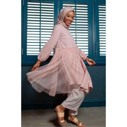 Foto Produk Tunik Muslim HijabChic Eid Helwa Pink - S dari HijabChic Official
