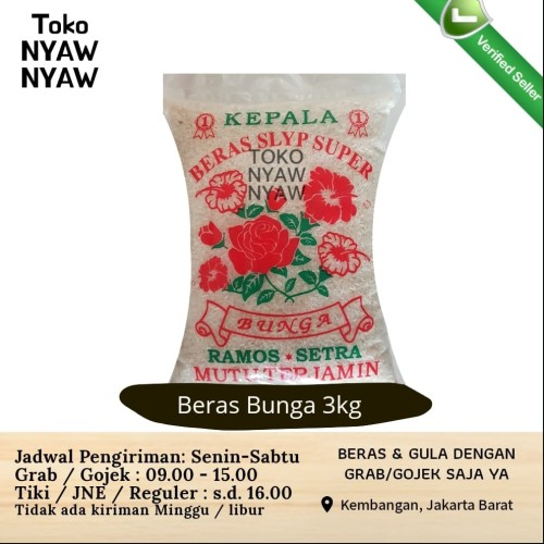 Foto Produk Beras Bunga 3 kg (setra ramos 3kg) dari Nyaw Nyaw