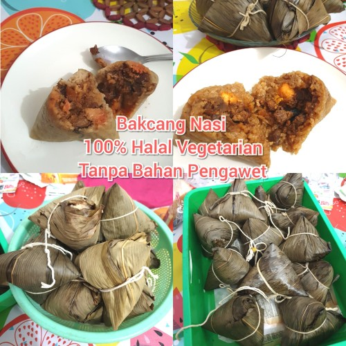 Foto Produk 1 buah Bakcang Nasi Vegetarian Halal dari Bstore86
