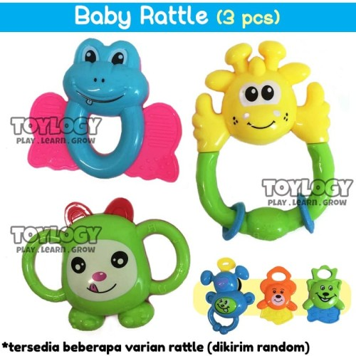 Foto Produk Mainan Edukasi Kerincingan Anak Bayi Goyang Babby Rattle dari Toylogy