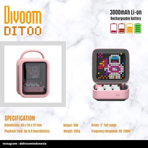 Foto Produk Divoom Speaker Ditoo (Original) Garansi Resmi 1 Tahun - Ditoo, Merah dari DIVOOM.INDONESIA