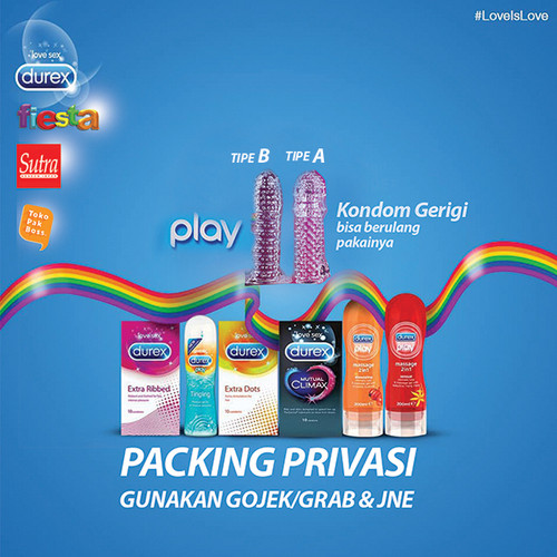 Foto Produk KNDM MOTIF GERIGI kondom kuat durex sutra pelumas play lubricant magic - MOTIF A dari TOKO PAK BOSS