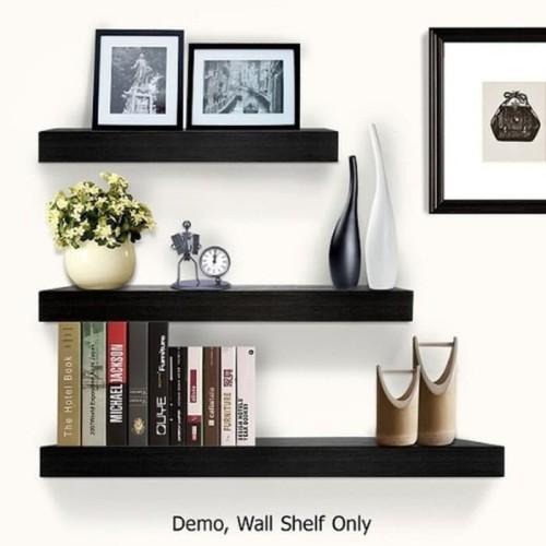 Foto Produk Rak melayang/floating shelf - Hitam dari Fajar abadi furniture
