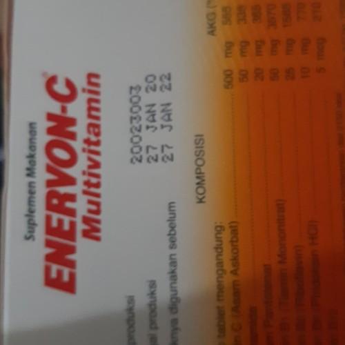 Foto Produk Enervon C isi 100 tablet khusus Gojek or Grab saja dari Pocoyo And Friend's