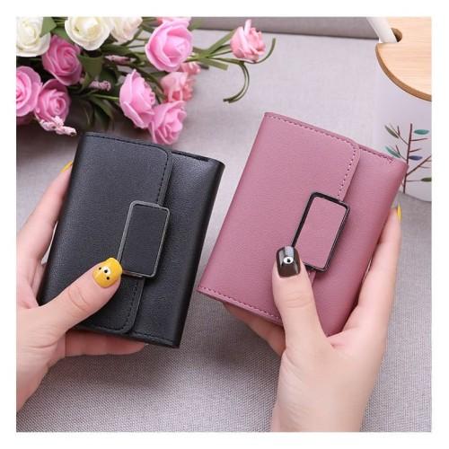 Foto Produk W37 Dompet Pendek Wanita Simply Square Women Short Wallet - pink dari EnnWen Online Store