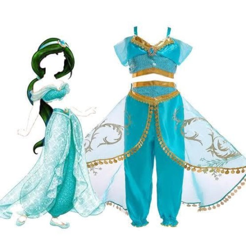 Foto Produk Kostum Princess Jasmine Disney Alladin Baju Pesta Dress Kado Anak - M dari MadisonShop