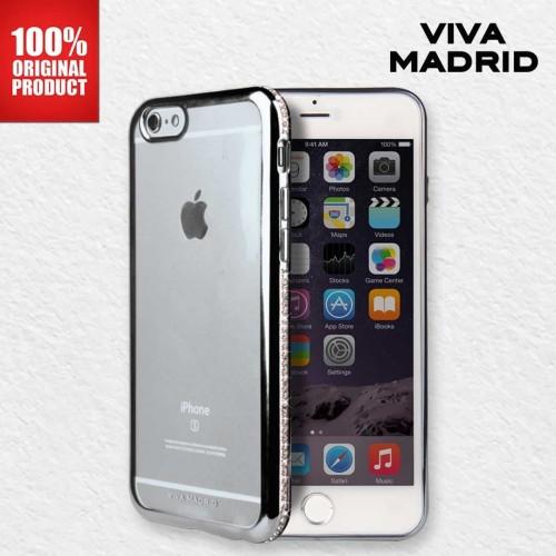 Foto Produk Casing iPhone 6 Cristal Studded Bezel Viva Madrid - Gunmetal dari PlayWorks Official Store