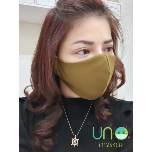 Foto Produk UNO MASKER Masker Kain 3ply + Insert (HIGH QUALITY / standar WHO) - Putih dari unomasker