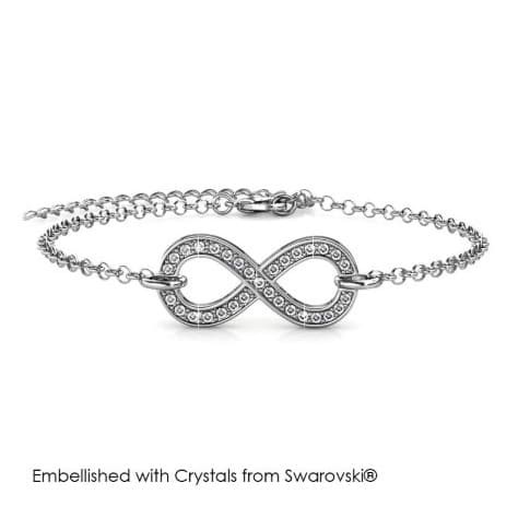 Foto Produk Infinity Eight Bracelet - Gelang Crystal Swarovski by Her Jewellery - Rose Gold dari Her Jewellery