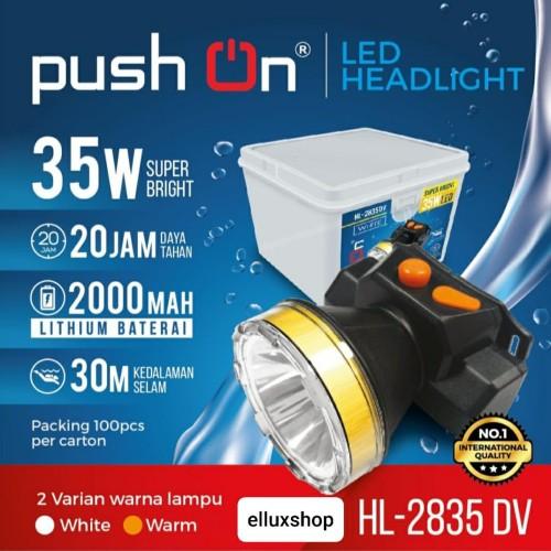 Foto Produk Senter kepala Push On HL 2835 DV 35watt - Putih dari elluxshop