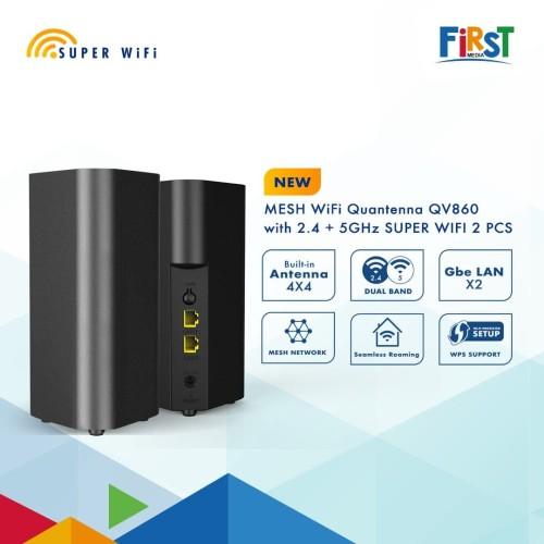 Foto Produk SUPER WIFI - Spartan Dual Band Quantenna QV860 Mesh WiFi Router dari First Media Store