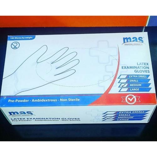 Foto Produk Sarung Tangan Medis/ Latex Examination Gloves Isi 1 dari B'gen Official Store