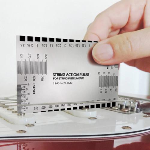 Foto Produk Steel String Action Ruler Pitch Gauge Guide Luthier Tool Guitar Bass dari Zeb Hobbies Store