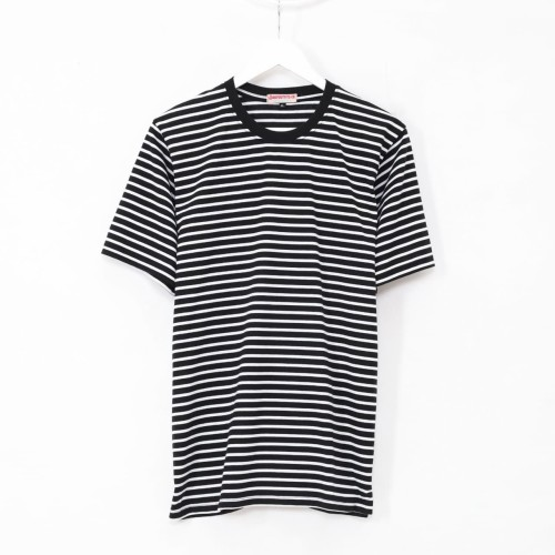 Foto Produk Kaos Garis Stripes Katun Lengan Pendek Hitam Putih - Premium Quality - Hitam, XXL dari Daily Outfits DYO