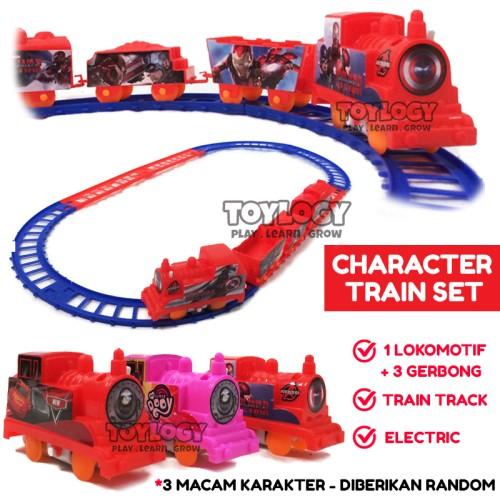 Foto Produk Mainan Anak Kereta Api Track Electric Train Set Lokomotif Gerbong dari Toylogy
