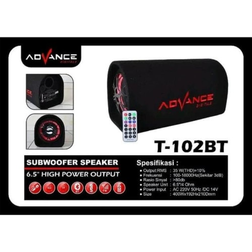 Foto Produk T-102BT Speaker Subwoofer Advance Bluetooth Karaoke Radio T102BT Aktif dari Mars Pedia