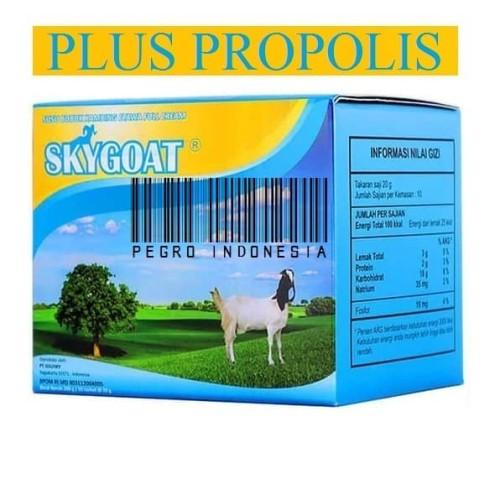 Foto Produk SKYGOAT PLUS PROPOLIS SKY GOAT SUSU KAMBING ETAWA BUBUK ORIGINAL 100% dari Pegro Indonesia