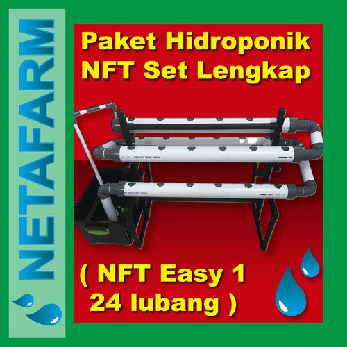 Foto Produk PAKET Hidroponik NFT set lengkap - NETAFARM NFT EASY1 dari NETAFARM HYDROPRODUK