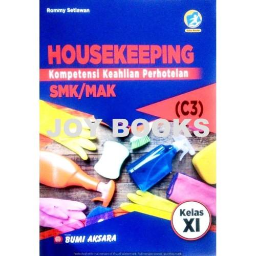 Foto Produk BUKU HOUSE KEEPING KEAHLIAN PERHOTELAN BUMI AKSARA SMK / MAK KELAS XI dari Joy Books