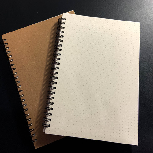 Foto Produk [Tulis.Id] Simple Basic Bookpaper Spiral Notebook - Dotted Titik dari Creativ Stationery