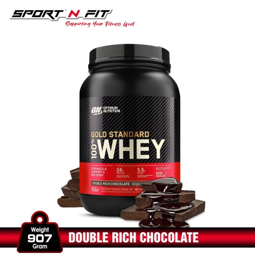Foto Produk Optimum Nutrition 100% Whey Gold Standard 2Lb Double Rich Chocolate dari Sport N Fit